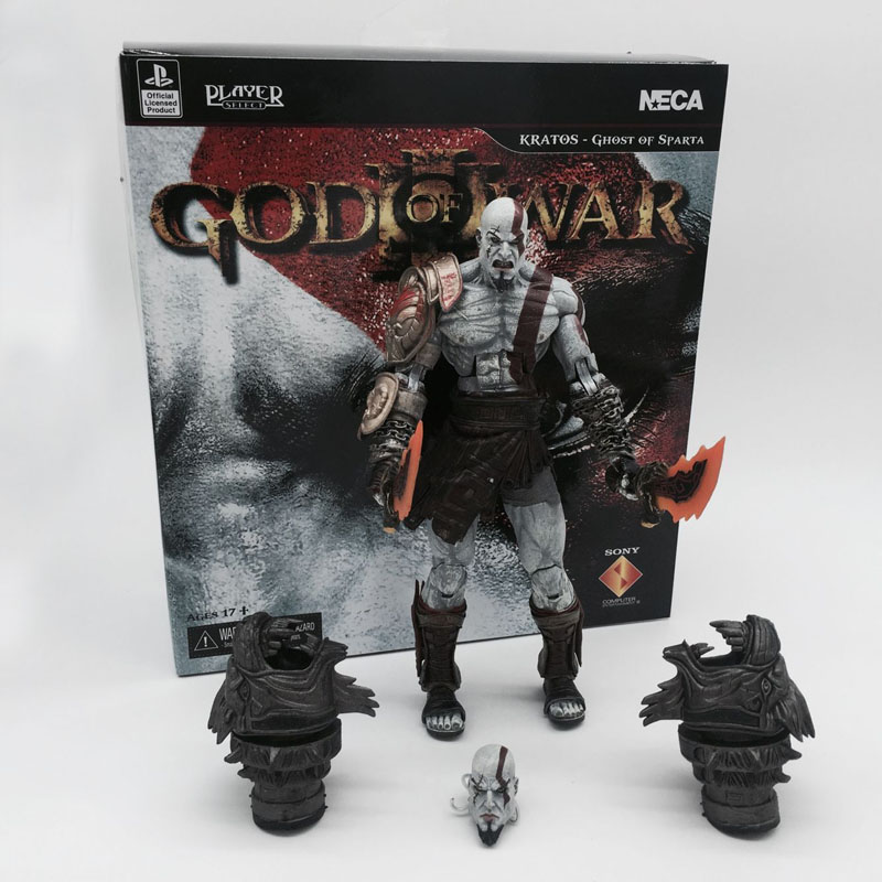 God of War 3 Ghost of Sparta Kratos PVC Action Figure Collectible Model Toy 22cm