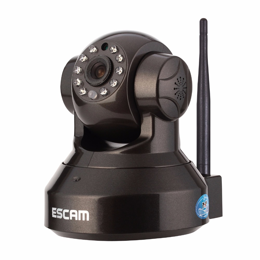 ESCAM Pearl QF 100 Security IP Network Wifi Wireless Camera Pan Tilt IR Cut Two Way Audio Micro SD Card HD 720P Onvif Dome Camer escam hd 720p wireless ip camera wifi pan tilt two way audio p2p ir cut night vision onvif cloud home security camera sd card