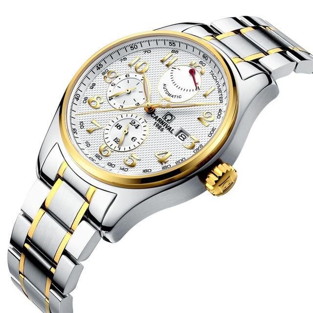 92191b383ff Carnaval Marca suíça de Luxo Homens Relógios Relógio Mecânico de Importação  C-H689AG-3