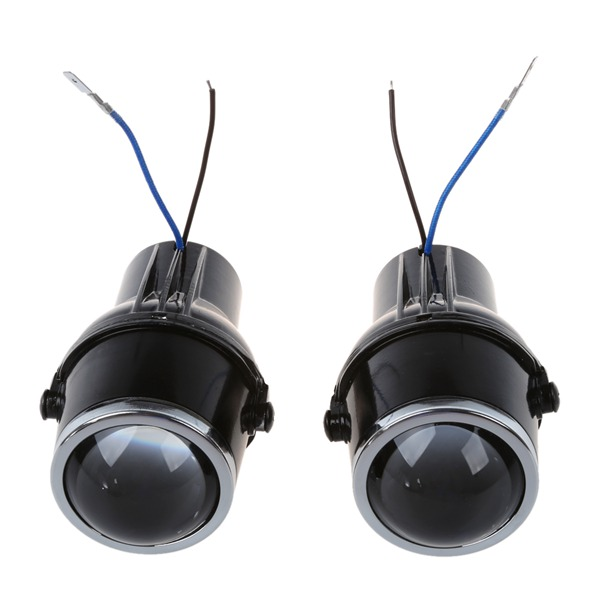 2Pcs metal car headLight projector Fog light lens 55W H3 Universal HID Xenon clear Halogen Fog Light Bulb Lamp H3 halogen bulbs 2x no errors xenon white 50w p13w c ree led bulbs drl for 2008 12 audi b8 model a4 or s4 with halogen headlight trims