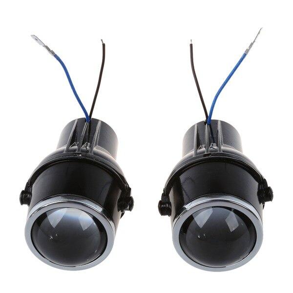 Car Light Source 12 v 55 w Universel H3 Halogène Brouillard Lumières Rénovation Projecteur Lentille Conduite Lampes Avec H3 Ampoules lumière Blanche chaude