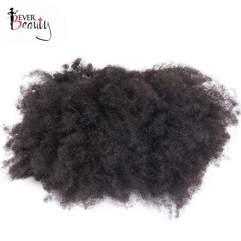 Queue de cheval cheveux humains mongol Afro crépus bouclés queue de cheval Remy 4B 4C Clip dans les Extensions cheveux naturels faisceaux jamais beauté - 5