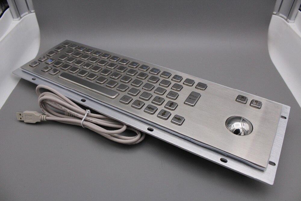 Teclado de acero inoxidable Teclado quiosco de metal con teclados - Periféricos de la computadora - foto 3