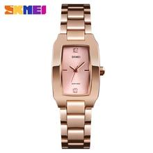SKMEI Luxury Ladies Wristwatch Top Brand New Fashion Trending Alloy Stainless Steel Quartz Watch Waterproof Shock Resistant