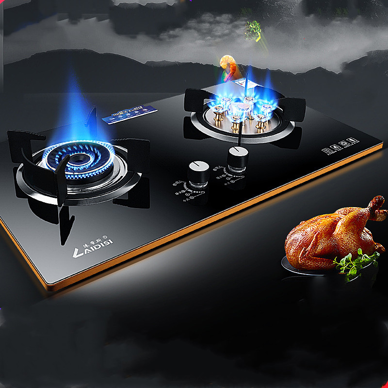 Wholesale Gas Stove Dual cooker Built in Hob Domestic Tempered Glass Natural Gas Liquid Gas Range