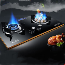 Wholesale Gas Stove Dual-cooker Built-in Hob Domestic Tempered Glass Natural Gas Liquid Gas Range Fire Platform Embedded Cooktop