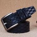 Cuadrados Hebillas Cinturones Para Hombre Punky de Lujo de la Correa Masculina del Perno del Cuero Genuino Correa de Cintura Cintos masculinos