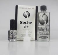 Original Seche Vite Dry Fast Top Coat Guaranteed Non yellowing 118ml + 14ml Bright Oil Professional Kit For Nail Care Tool 695B