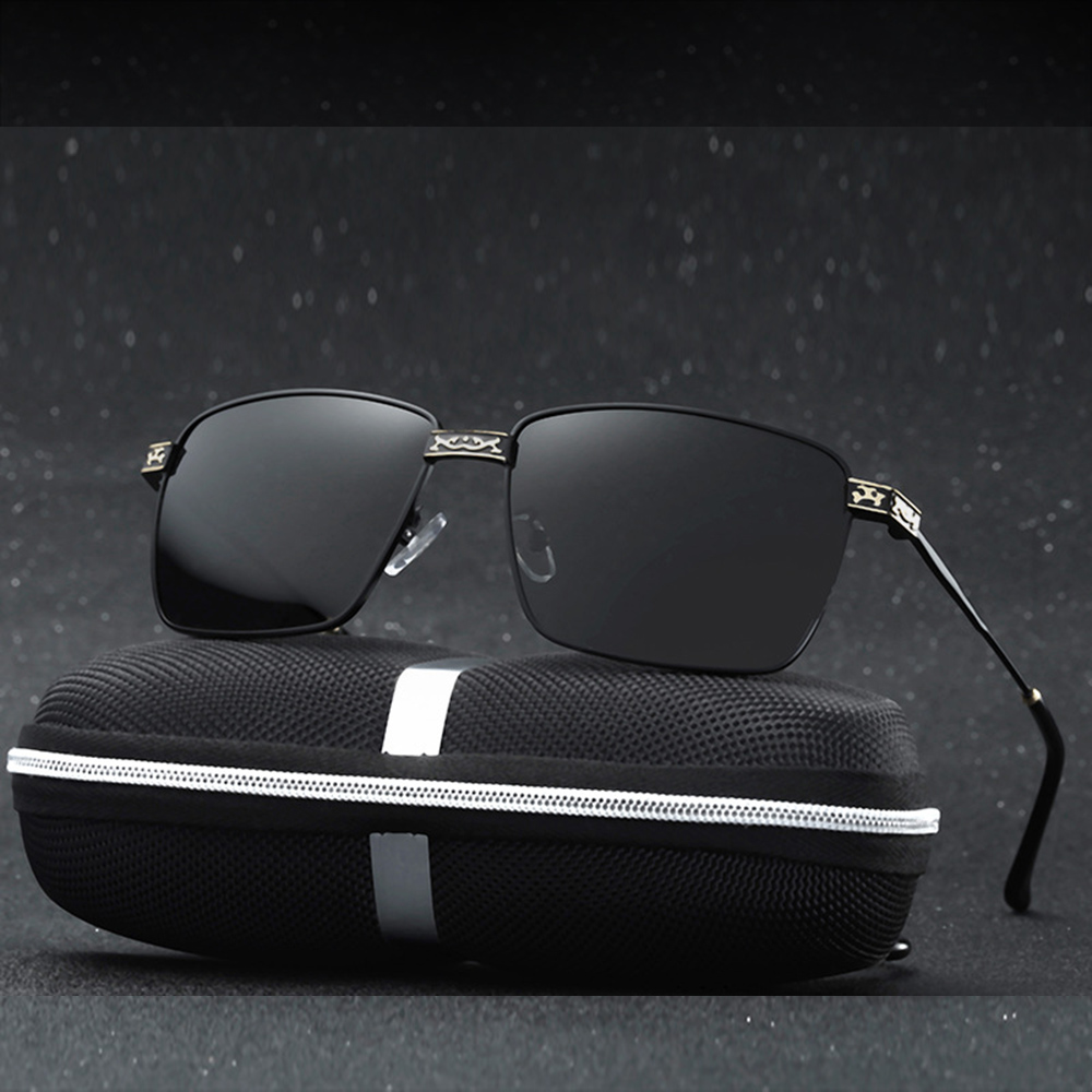 Alloy Cool Men Classic Fishing Driving Polarized Sunglasses Custom Made Myopia Minus Prescription Lens -1 To-6