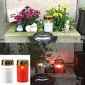 2 шт. на солнечных батареях чайный светильник домашний водонепроницаемый энергосберегающий беспламенный фестиваль могила кладбище обряд Э...