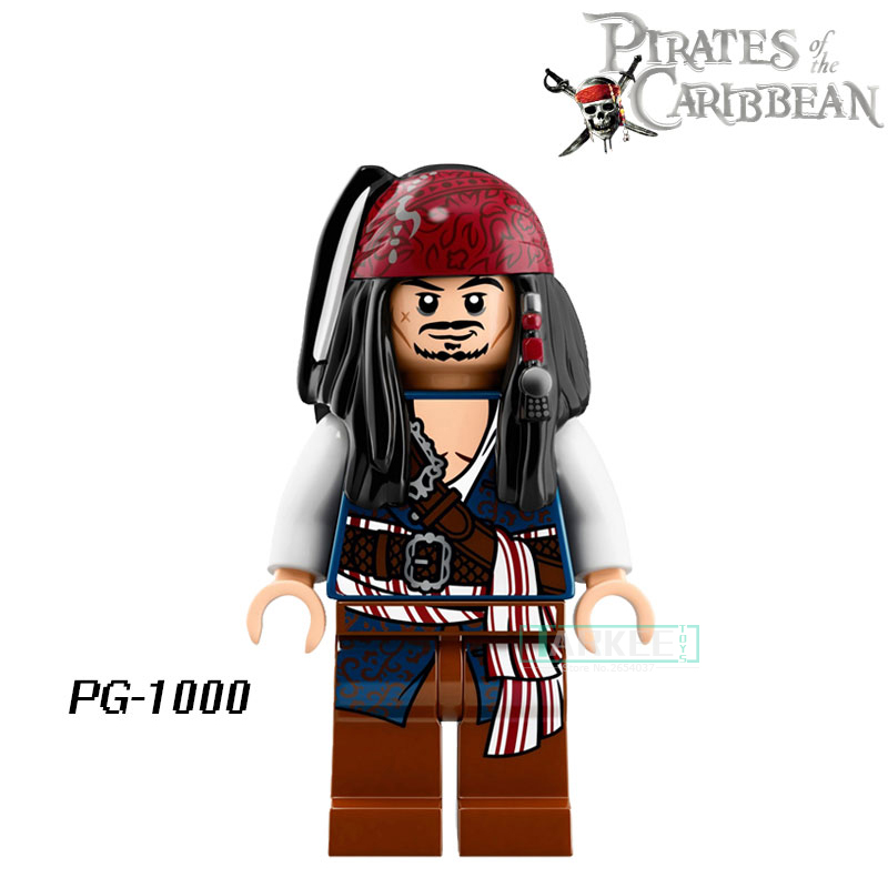 Educational Blocks Pirates of the Caribbean Lesaro Captain Jack Davy Jones Figures Superhero Bricks Kids DIY Toys Hobbies PG1000 pirates of the caribbean lesaro captain jack edward mermaid davy jones silent mary carina smith building blocks kids toys pg8048