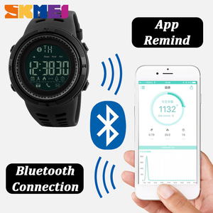 Image 2 - SKMEI Outdoor Sport Smart Watch Men Bluetooth Multifunction 5Bar Waterproof Digital Watch Men For Android IOS reloj hombre 1250