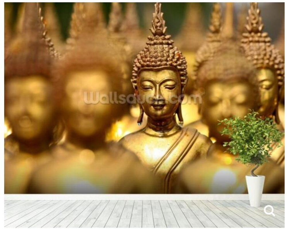 Custom Buddha Statues Wall Mural Wallpaper for living room sofa corridor backdrop wall papel de parede decorative wallpaper custom children wallpaper multicolored crayons 3d cartoon mural for living room bedroom hotel backdrop vinyl papel de parede