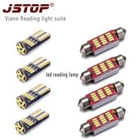 JSTOP8piece 설정/비아 노 고품질 led 램프 전구 c5w 꽃줄 41 미리메터 C10W 자동 canbus t10 w5w 12VAC