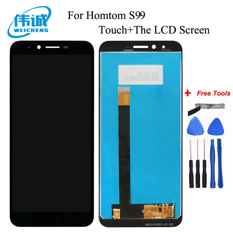 WEICHENG For Homtom S99 LCD Display+Touch Screen Digitizer Assembly For homtom s99 Accessory+Free Tools