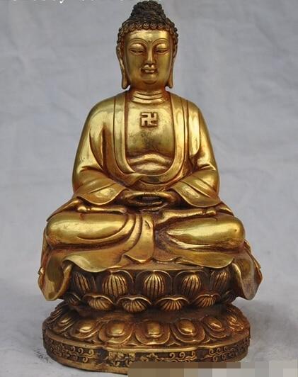 bi003827 9tibet buddhism temple bronze gilt sakyamuni Tathagata Amitabha buddha statuebi003827 9tibet buddhism temple bronze gilt sakyamuni Tathagata Amitabha buddha statue
