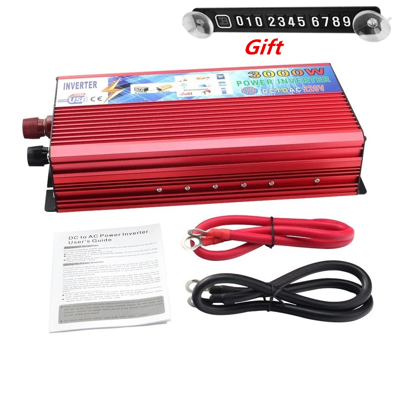 цена на 3000W Peak Real 2000W Car Power Inverter 12V to 220V Modified Sine Wave Converter Car Charger Veicular 12V DC To AC 220 inversor