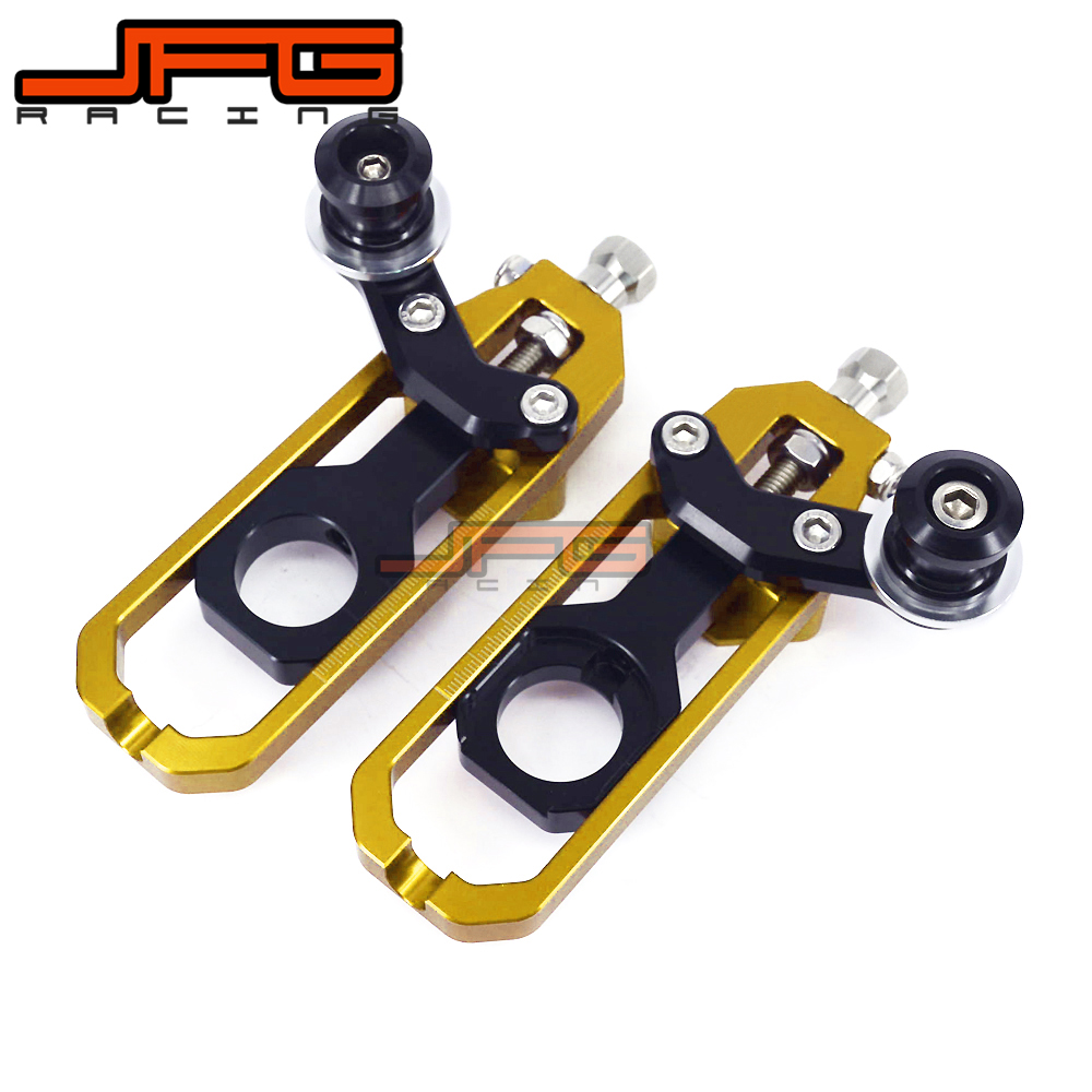 Chain Adjusters Tensioners With Spool Fit for KAWASAKI ZX-10R ZX10R ZX 10R 2011 2012 2013 2014 chain adjusters tensioners with spool fit for honda cbr600rr cbr600 rr 2007 2008 2009 2010 2011 2012 motorcycle