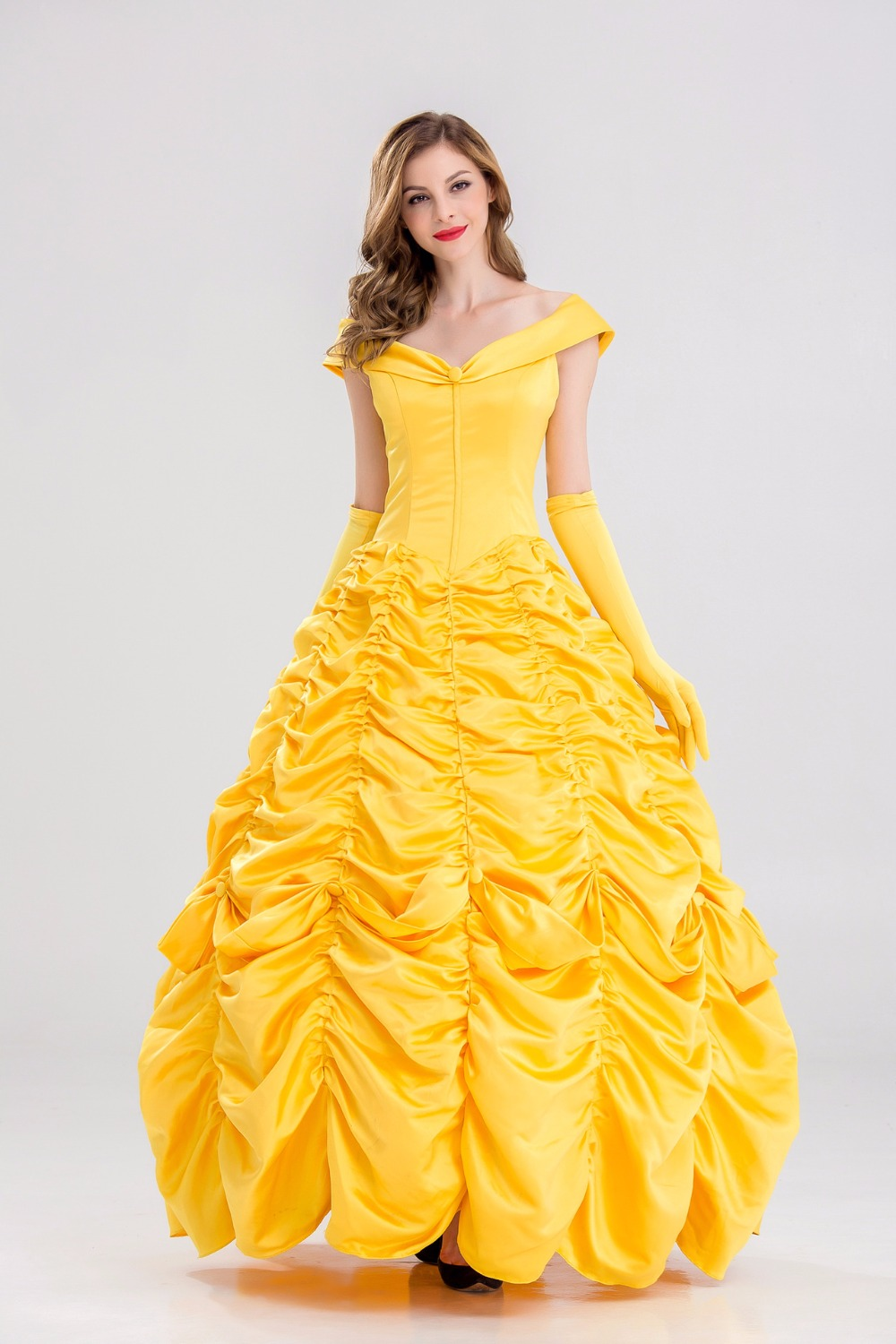 2017 Movie Beauty And The Beast Princess Belle Cosplay Costume Emma Watson Dress Halloween Costumes For Adult Women On Aliexpress