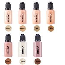 Ophir pro airbrush rosto maquiagem corretivo fundação spray ar maquiagem fundação para airbrush Kit 1oz/garrafa _ ta104