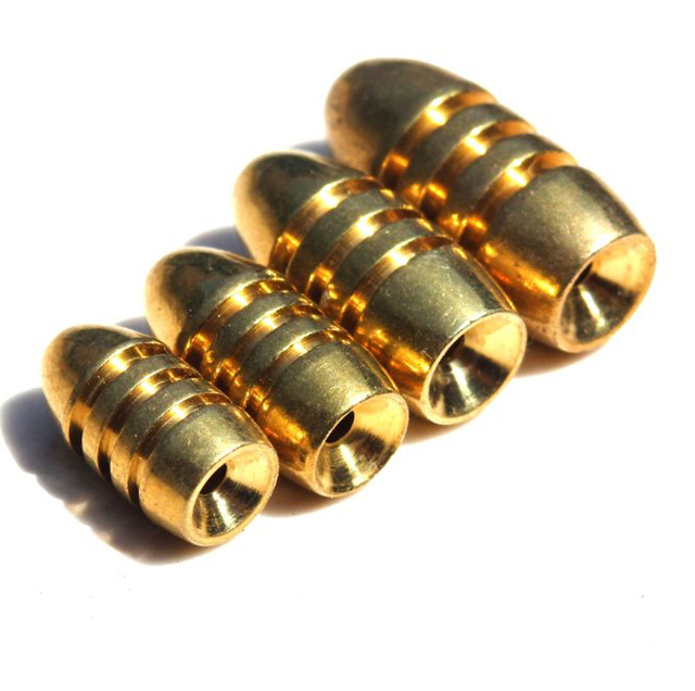 10Pcs Copper Brass Weight Fishing Sinker Lead Brass Sinkers Bullet Weights Drop Shot for Texas Rig Soft Bait Accessory Tackle W3
