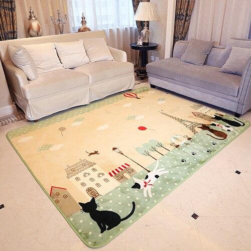 Tapis de sol tapis d'enfants démon chat dessin animé tapis de sol salon tapis chambre étude ménage tapis