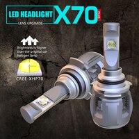 2 предмета LOAUT XP70 9012 HXP CR EE C Здравствуйте ps автомобиля светодио дный лампы Здравствуйте Lo луч 50 Вт 8000LM 6000 К 24 В 100% CANBUS