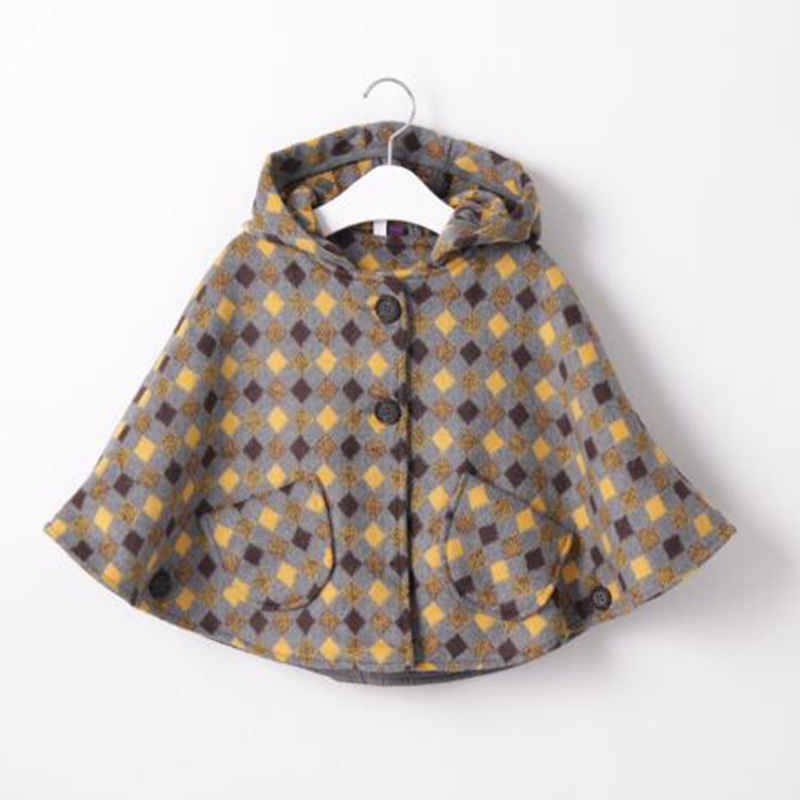 Baby Girl Cloak Coat Cashmere Toddler Kids Winter Warm Wool Fleece Cape Poncho Cloak Hooded Children Clothes Christmas Outerwear free shipping children outerwear baby girl clothes baby born costume fleece topolino cute toddler girl clothes cheap baby cloth