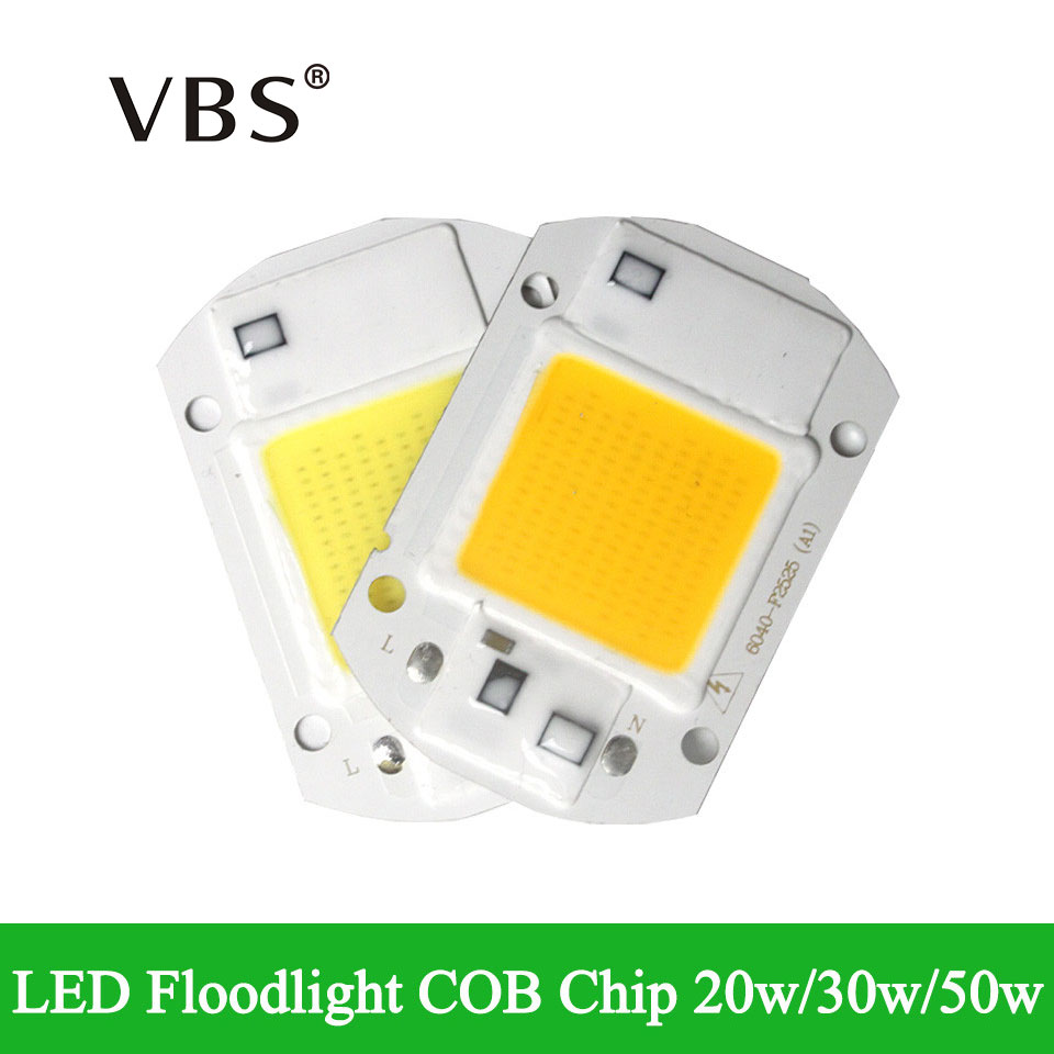 IP65 LED COB Chip Real Power 20w 30w 50w LED replace Chip Integrated Smart IC Driver Fit for DIY Floodlight Projector Lampada