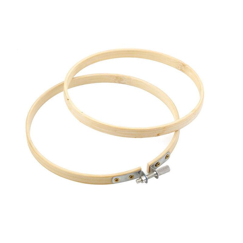 Practical 13-27cm Cross Stitch Machine Bamboo Frame Embroidery Hoop Ring Round Hand DIY Needlecraft Household Sewing Tool EH