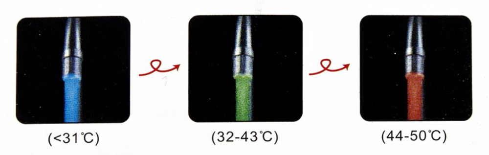 2019 w nowym stylu czujnik ciśnienia kran z podświetleniem led dotknij 3 kolor RGB Glow prysznic nowy