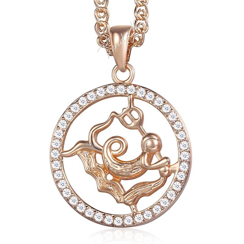 Aquarius Pendant Necklace For Women Men 12 Zodiac