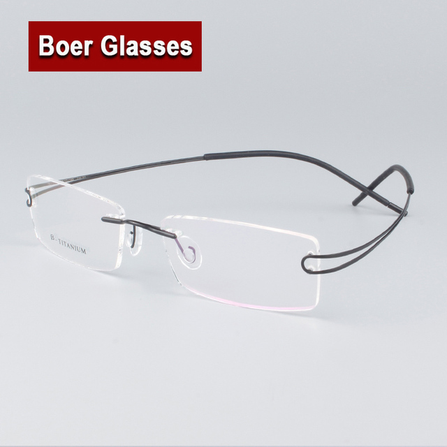 4d0a4747cd6 8 Colors Hingeless Rimless Non-Screw Pure Titanium Flexible Unisex  Eyeglasses Glasses Spectacle Optical Frame  6116  6117