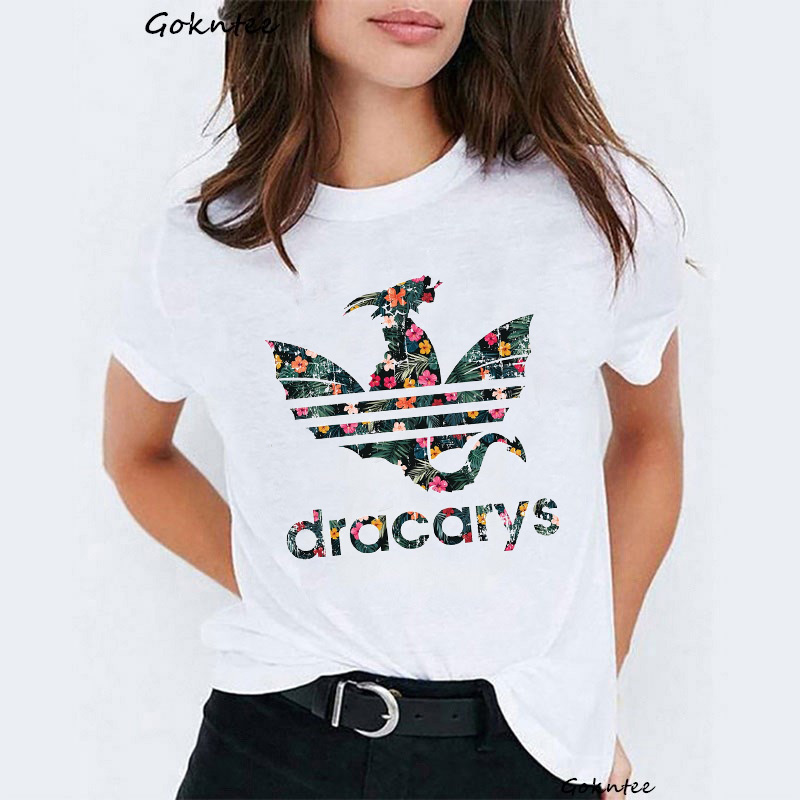 Dracarys Women   t     shirt   Mother of Dragons print vogue tshirt Funny   t  -  shirt   Game of Thrones harajuku summer Tops tee   shirt   femme