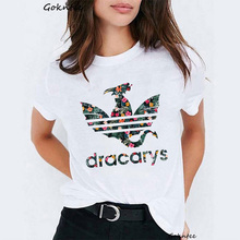 Dracarys Women t shirt Mother of Dragons print vintage dames Funny t-shirt Game Thrones harajuku summer Tops tee femme