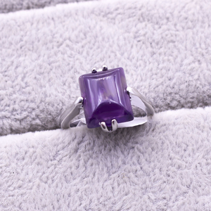 Image 4 - 20 ピース/ロット混合スタイルナチュラル紫水晶石リング 2018 新ファッション女性のジュエリー