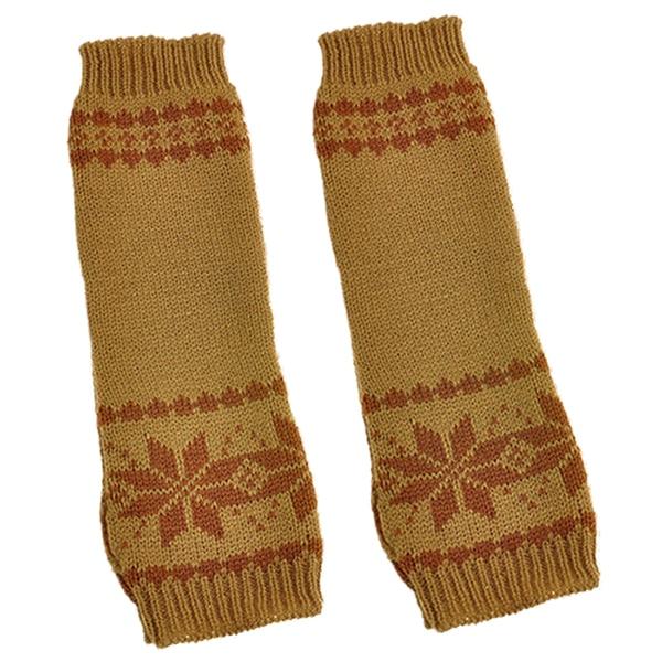 Khaki So Effektiv Wie Eine Fee Armstulpen Beau-neue Mode Frauen Arm Hand Winter Warmer Handschuh Lange Finger Schneeflocke Handschuhe Bekleidung Zubehör