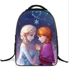 New Fashion Children School Bags For Girls Kids Backpack Cartoon Lovely Princess Anna Elsa Bag Schoolbag Mochilas Infantiles