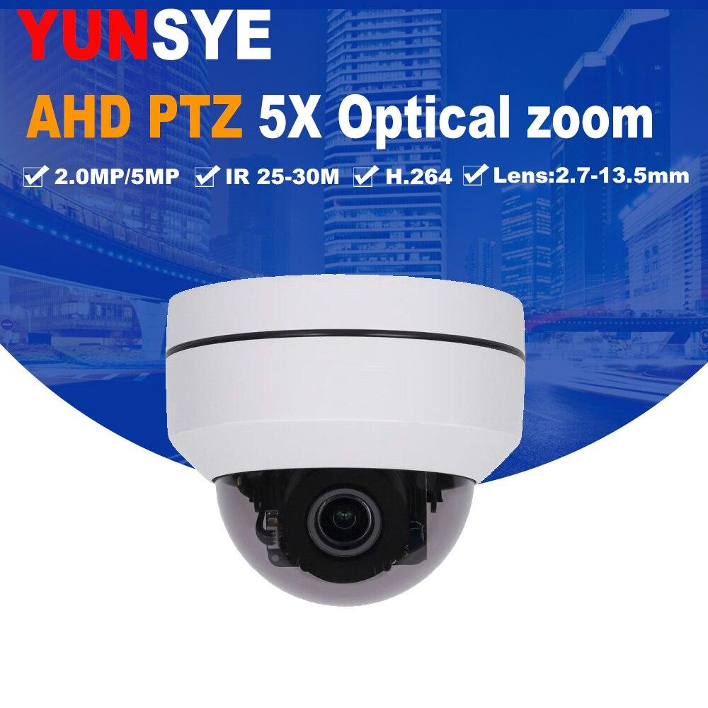 4em1 CVBS CVI TVI AHD 1080 P Zoom de 5x Mini Câmera PTZ IR Ao Ar Livre Full HD de 2.0MP/5MP Auto Foco Zoom 2.7-13.5mm Varifocal ptz cam