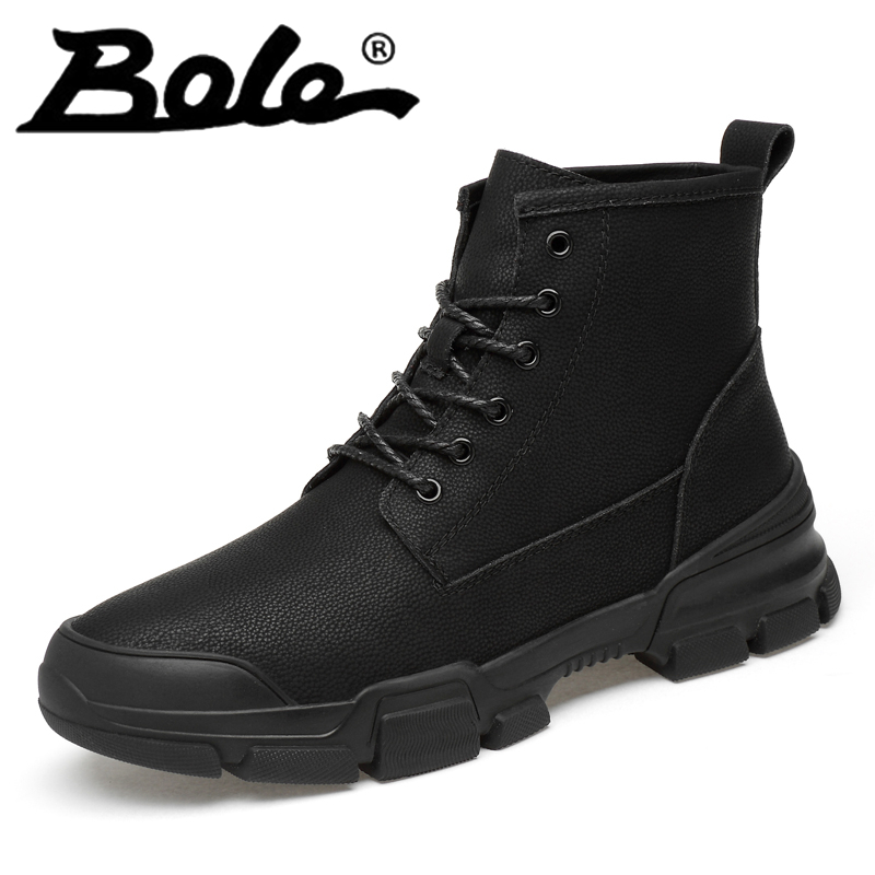 Men Boots Winter Short Plush Round Toe Black Hard Wearing Non Slip Lace Up Shoes for Men Short Boots High Quality Keep Warm Boot popular men martin boots winter with fur flat high top hot round toe lace up boots hard wearing warm 2018 cotton boots for male