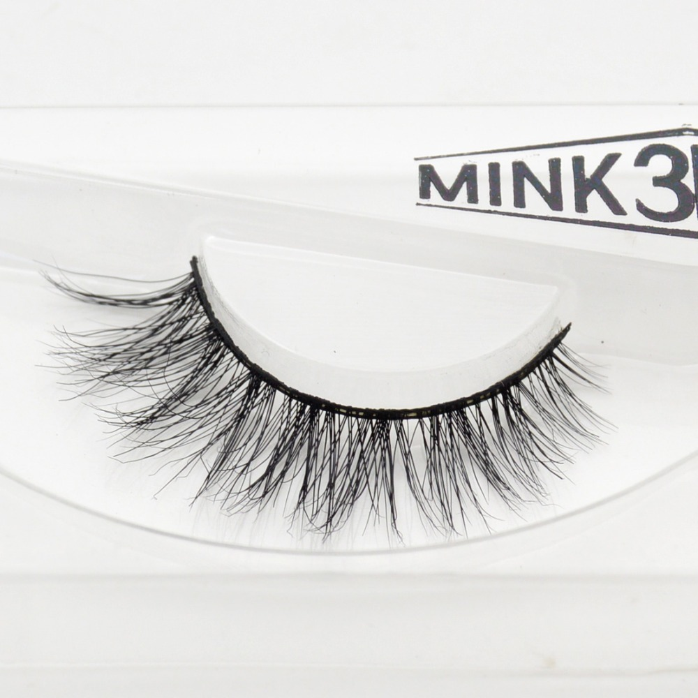 Visofree 3D Mink Eyelash  Real Mink Handmade Crossing Lashes Individual Strip Thick Lash Fake Eyelashes A04