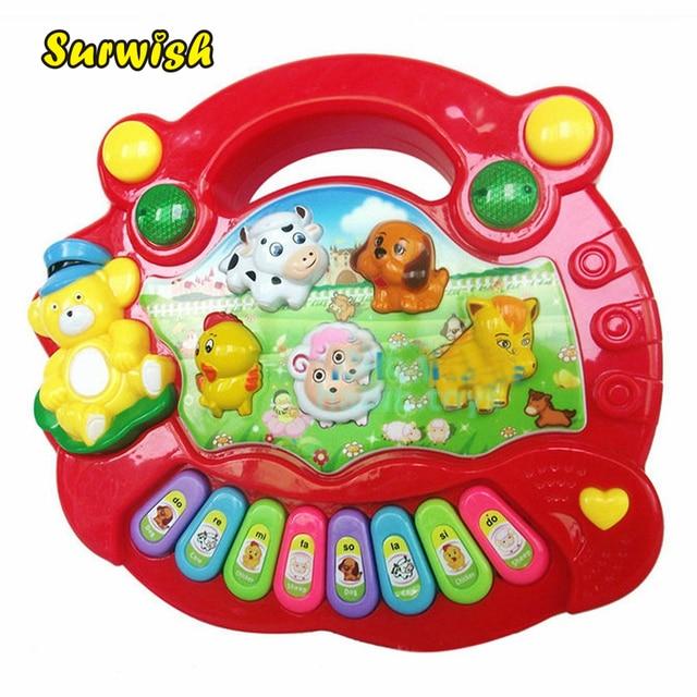 9046ff32061f Surwish Baby Kids Child Animal Farm Keyboard Electrical Piano Musical  Educational Toy - Color Random