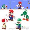 Super Mario Action Figure Luigi Yoshi Mushroom Kinopio Blocks Models 3D brick Christmas Present Gift  Toys