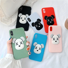 Hot 3D Cartoon violent bear Case For iphone 7 Soft Silicone Phone X XR XS Max 6 6S 8 Plus Cover