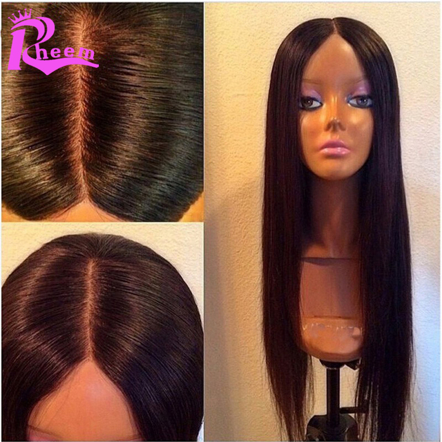 Cheap Brazilian Full Lace Human Hair Wigs For Black Women Silky Straight  Full Lace Wigs With Baby Hair Lace Front Ponytail Wigs 26046e3ca9