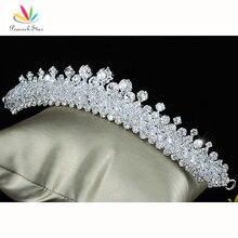 Estrella Partido Nupcial De La Boda Espumosos de Calidad de pavo real De Cristal Austriaco Tiara Comb CT1502