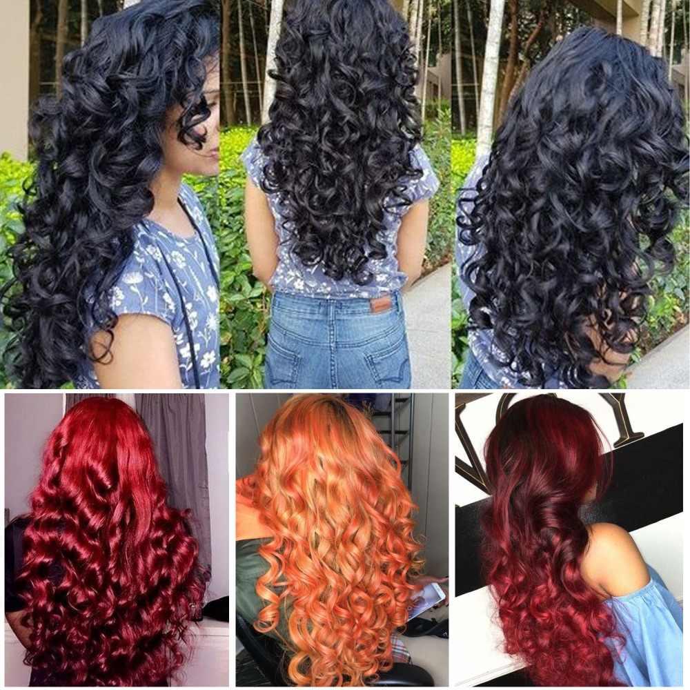 Свободные глубокие волнистые пучки с закрытием Необработанные индийские человеческие волосы переплетения пучки с кружевом Закрытие драгоценный камень красоты remy волосы для наращивания # 1B