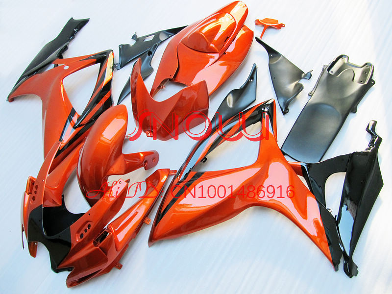 Orange for SUZUKI GSX R600 R750 06-<font><b>07</b></font> <font><b>GSXR</b></font> <font><b>600</b></font> 750 GSXR600 GSXR750 GSX-R600 GSX-R750 K6 06 <font><b>07</b></font> 2006 2007 <font><b>Fairing</b></font> <font><b>Kit</b></font> image