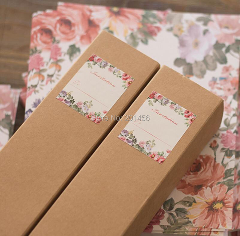 Kraft Boxed Scroll Wedding font b Invitations b font Card of Customised Printing Birthday Party font online get cheap bridal shower invites aliexpress com alibaba group,Boxed Bridal Shower Invitations