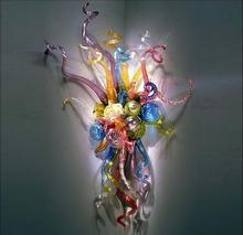 лучшая цена LED Wall Fancy Lights Chihully Style Hand Blown Glass Wall Lamps